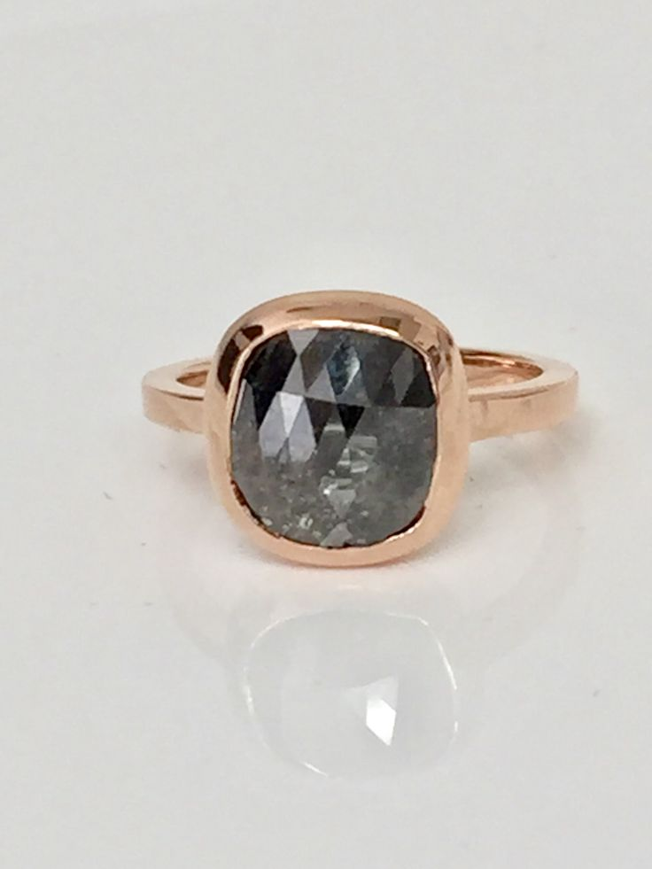 2.74 carat #Cushion #natural #honey  #champagne #color #rose #cut #diamond #ring, #champagne #diamond, diamond #bezel, diamond #solitaire, #rose #gold ring, #pink #gold, #rustic diamond ring, #boho #bohemian #fashion #unique diamond #Rose-Gold #Pink-Gold #Rose-Cut-Diamond #SimpleRing #SimpleEarrings  $880
