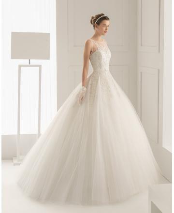 Prinzessin Exklusive Außergewöhnliche Brautkleider aus Softnetz mit Applikation