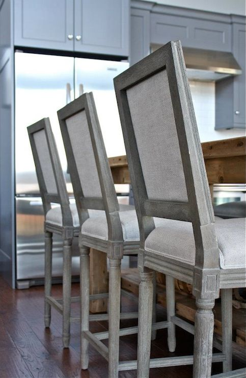 william adams design kitchens restoration hardware vintage french square upholstered counter stool restoration hardware salvaged wood k
