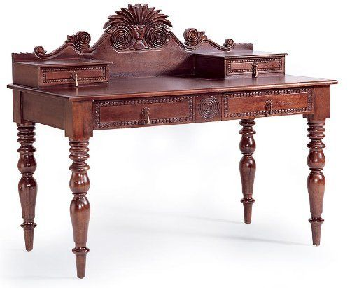 Bauer International Barbados Writing Desk By Bauer Plantation Style British And French