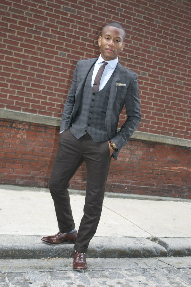 Waist Coat & Suit Jacket by @Indochino (Baltimore Buzz Olive Green Suit) featured - mensstylepro.com/... (Sabir M. Peele) #menswear