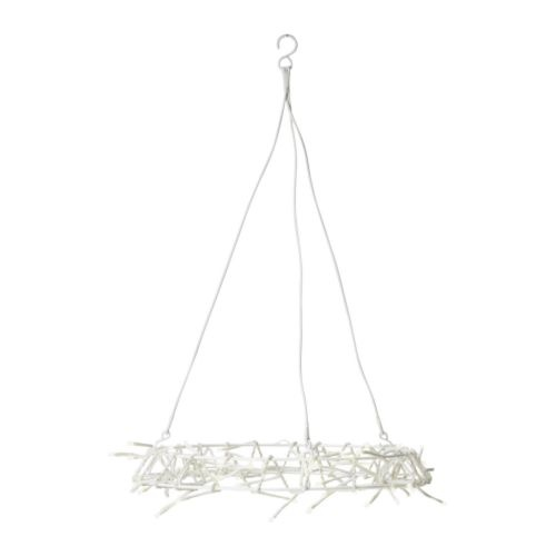 GLÄNSA  Pendant lamp, white  $19.99  Article Number:   101.508.00  Can be hung horizontally or vertically. Uses LEDs, which consumes up to 80% less energy and last 20 times longer than incandescent bulbs.