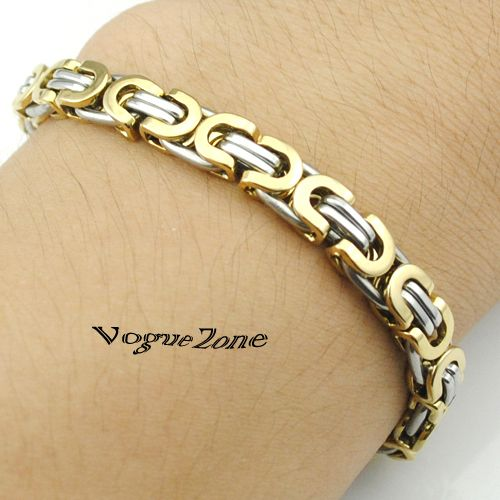 Cheap jewelry software, Buy Quality jewelry tennis directly from China jewelry equipment Suppliers: Promotion! Men's Bracelets Gold Chain Link Bracelet Stainless Steel 8mm Width Byzantine Wholesale High Quality BB247US $