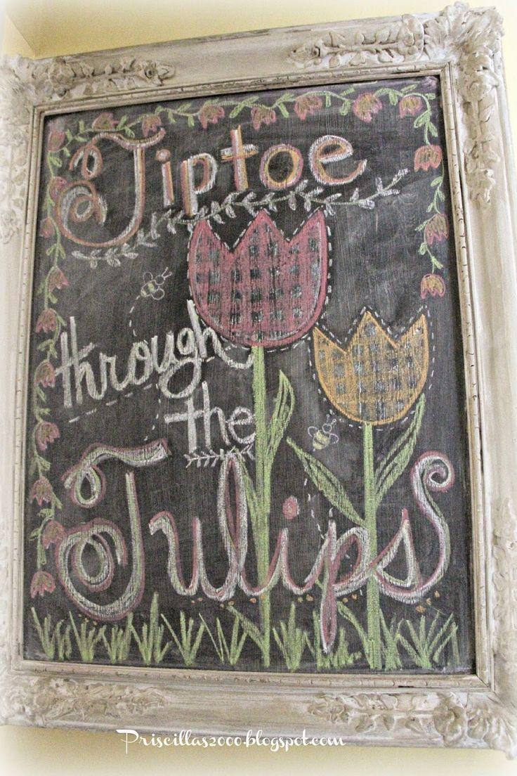 Tiptoe Through The Tulips Gyaru Makeup Tutorial: 1000+ Images About Chalkboard Art On Pinterest