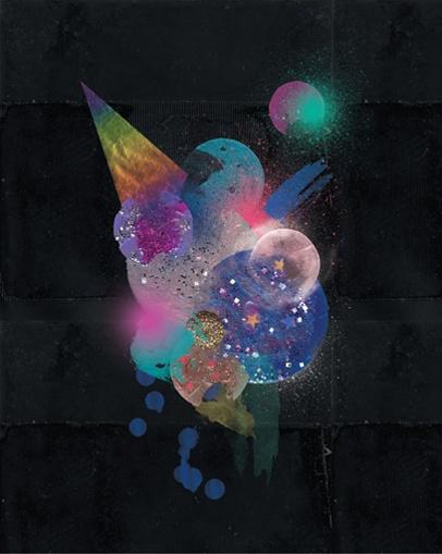 elialaourda.com #space #circles #moon #sky #art #design #poster #colours #glitter #diy #crafts #videoart #festival #digital