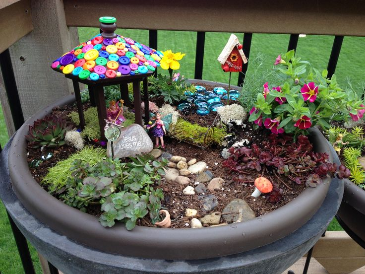 Fairy Gardens Ideas bird bath fairy garden Find This Pin And More On Fairy Garden Ideas