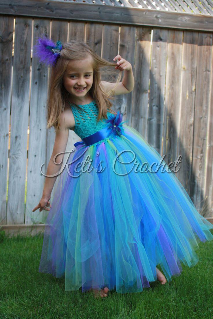 Tutu Dress,Crochet Tutu Dress,Peacock Tutu Dress,Flower Girl Dress,Turquoise Tutu Dress,Toddler Tutu Dress,Girl Christening Dress,Prom Dress by KetisCrochet on Etsy https://www.etsy.com/listing/244675073/tutu-dresscrochet-tutu-dresspeacock-tutu