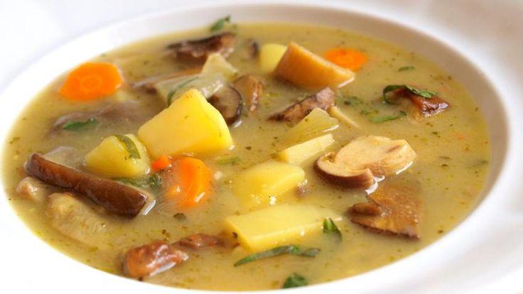 Houbová bramboračka | Vaření s Tomem