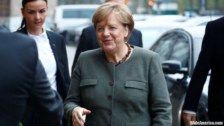 German Chancellor Angela Merkel said she will consult Monday with President Frank-Walter Steinmeier after weeks of talks to form a coalition government fell apart with one potential partner withdrawing from the process.  #Europe