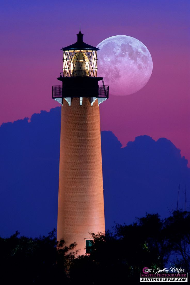 Full Moon over Jupiter Inlet Lighthouse & Museum - Full Moon over Jupiter Inlet Lighthouse & Museum in Jupiter, Florida #LoveFL #JupiterFlorida #Lighthouse #JupiterLighthouse  BUY this image right now in any size or format you want! http://justinkelefas.com/  Contact me directly for the finest Limited Edition FujiFlex Acrylic Prints or Visit: http://justinkelefas.com/ for more information!