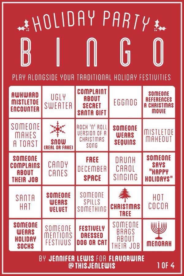 Lovely Christmas Drinking Party Ideas Part - 8: Christmas Bingo. Work Christmas Party IdeasHoliday ...