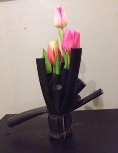 se endnu et forslag på en vase af en cykelslange