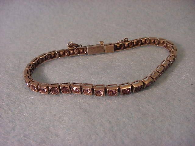 Vintage Sterling Stone Bracelet Pat. 1920