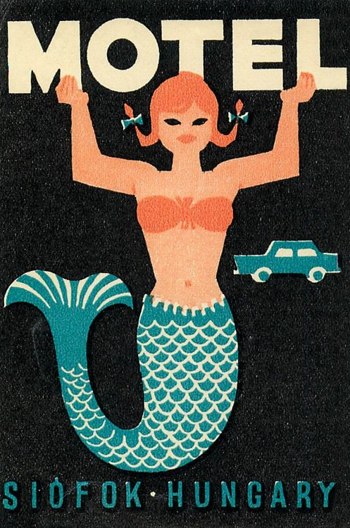 Vintage luggage label from Hungary