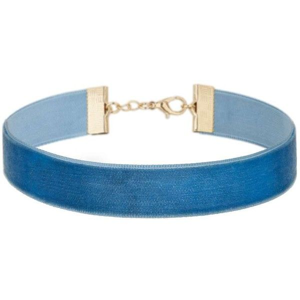 Miss Selfridge Thin Blue Velvet Choker ($12) ❤ liked on Polyvore featuring jewelry, necklaces, accessories, chokers, blue, choker necklace, blue jewelry, thin choker necklace, velvet jewelry and thin necklace