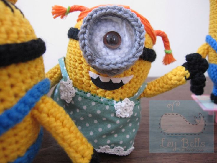 Amigurumi Minion Girl : amigurumi minion stuart girl by Ley Bells Crochet ...