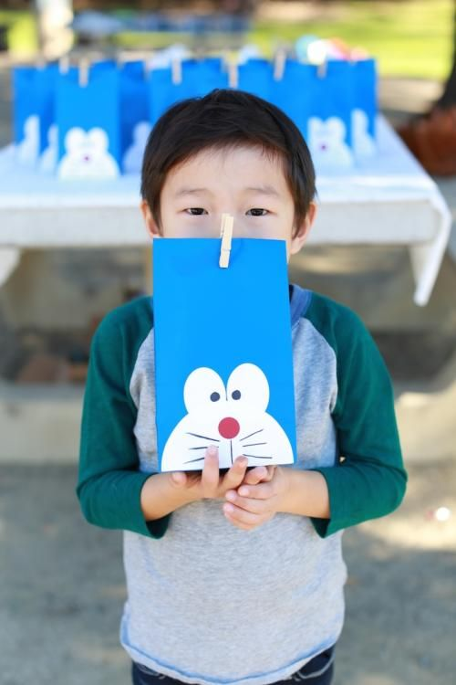 5th Birthday Party! | Pittr Pattr Doraemon favor bags
