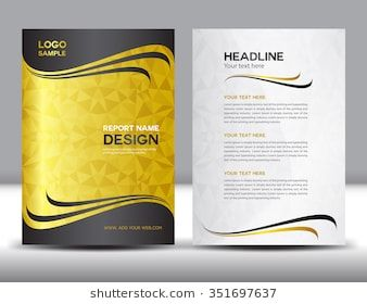 gold annual report vector illustration cover design brochure flyer