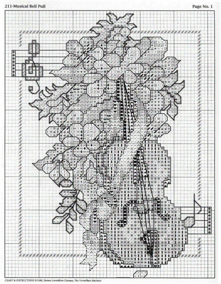 Schema punto croce Strumenti A Corde 03