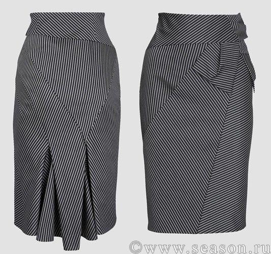 юбка с завышенной талией