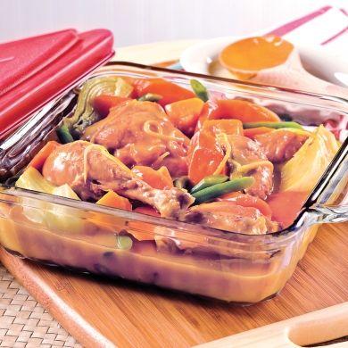 Cuisses de poulet au citron et légumes d'automne - Recettes - Cuisine et nutrition - Pratico Pratique
