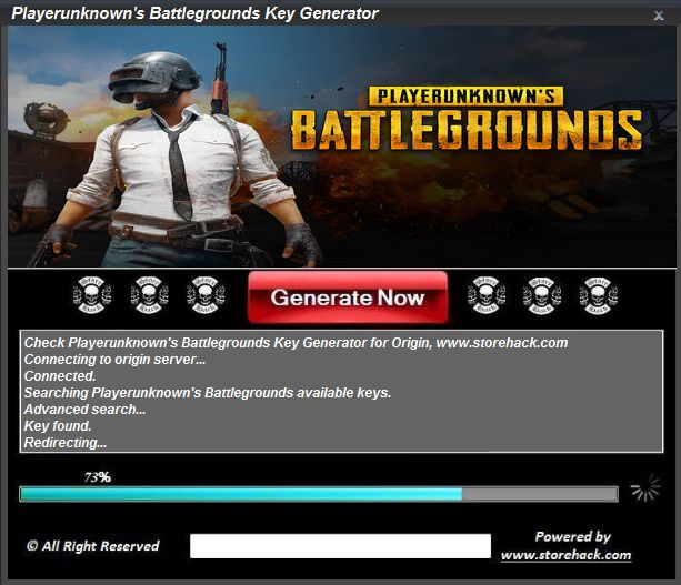 Our Playerunknown's Battlegrounds Key Generator will generate unlimited keys that can be used to unlock the FULL game for free