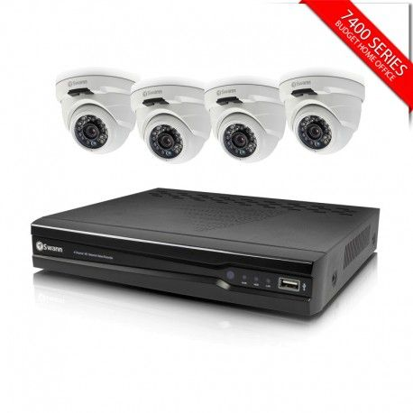 Swann SWNVK-474004D 4Channel 4MP Recorder with 4 x SWNHD819 Dome Cameras
