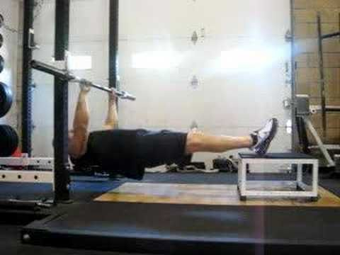 DeFrancosTraining.com - Inverted rows (feet elevated) Perfect for training to do a pull-up