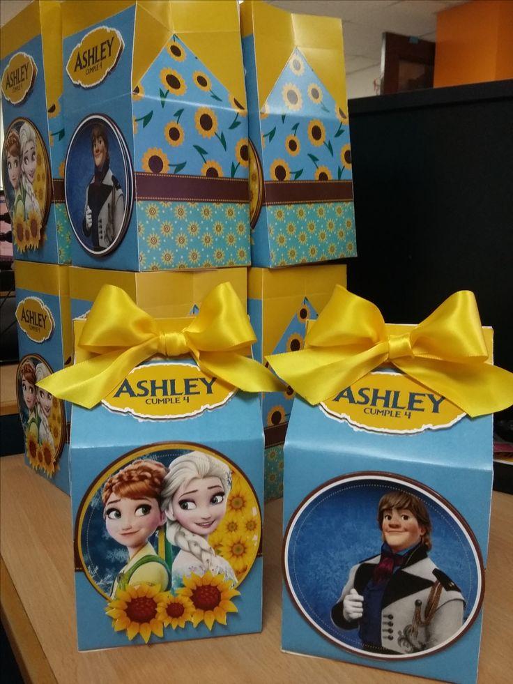 Cajas de dulces personalizadas para niñas y niños. Frozen Candy Box