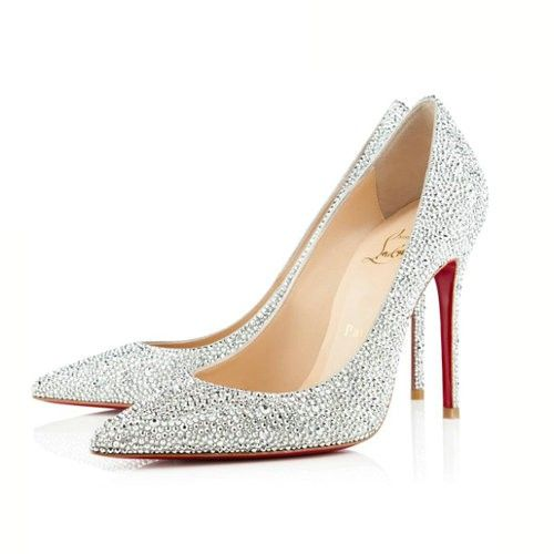 Christian Louboutin Decollete 554 100mm Strass Argento Shop Online Italia