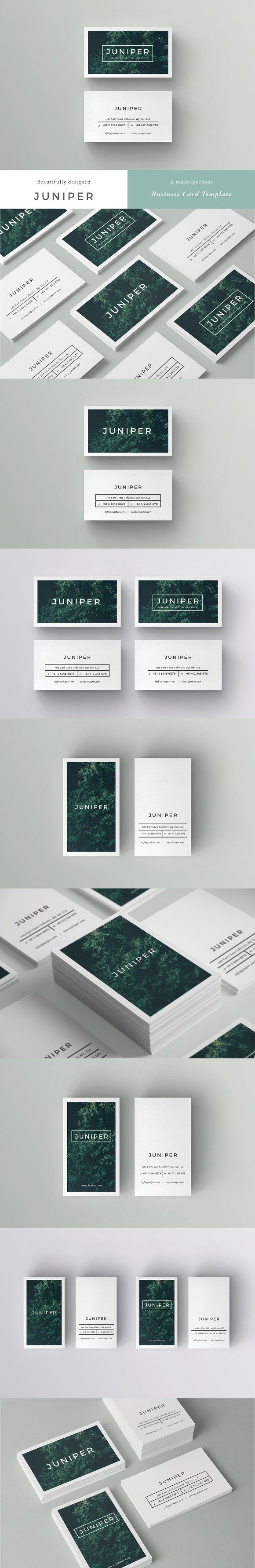 J U N I P E R Business Card Template - A beautiful multipurpose business card template, perfect for your next project and any brand identity. Clean, modern and fully customisable. Ideal for personal identity, professional branding, advertising, calling cards, launches, events, invites and more. Landscape AND portrait options. 4 design variations to choose from all up, feel free to mix and match fronts and backs. by 46&2 Collective. $10 #affiliatelink