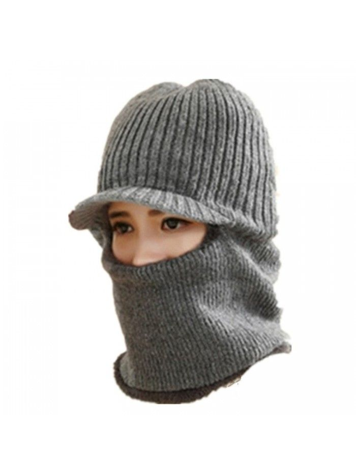 e32f67418e44b Winter Warm Hat Face Scarf Cable Skull Windproof Cap For Skiing ...