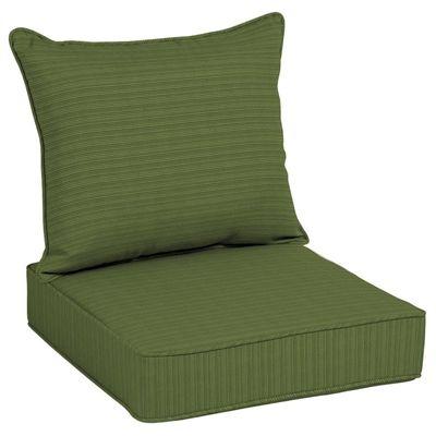 allen + roth Green 2-Piece Premium Woven Deep-Seating Cushion Set