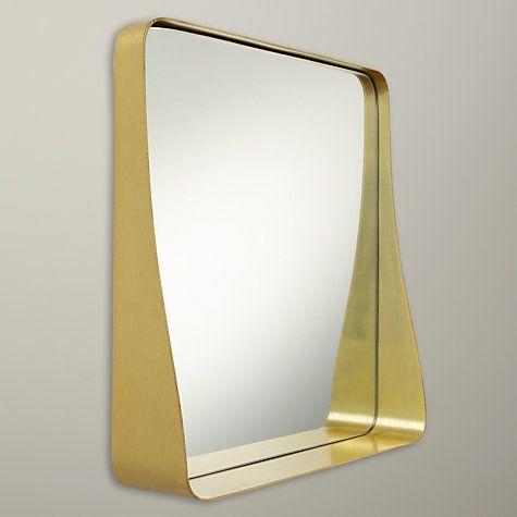 Buy House by John Lewis Round Corner Mirror, 36 x 36cm, Brass Online at johnlewis.com