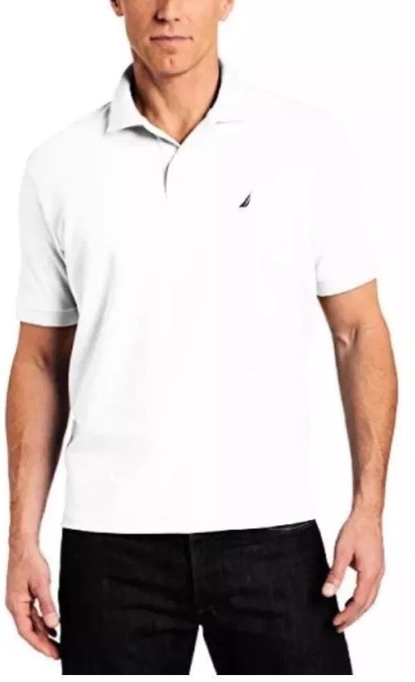 Nautica Mens Size XXL White Polo Pullover with Collar Short Sleeve Cotton NWT #Nautica #PoloRugby