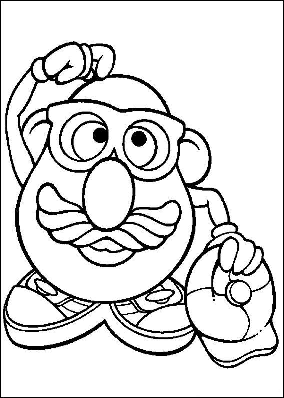 Potato Head Coloring Page Free Printable Coloring Pages