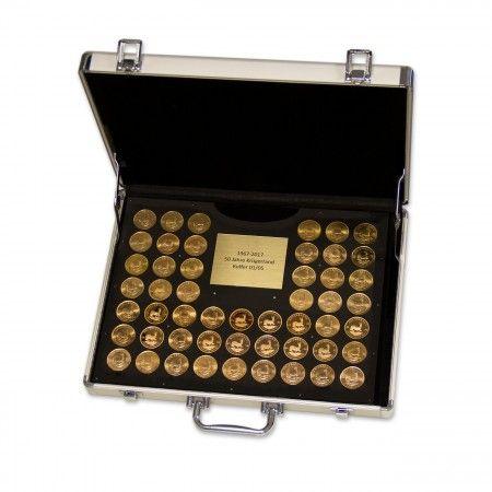 Ab sofort bei uns erhältlich: Degussa Sammlerkoffer mit einem Krügerrand Goldmünzensatz von 1967 bis 2017