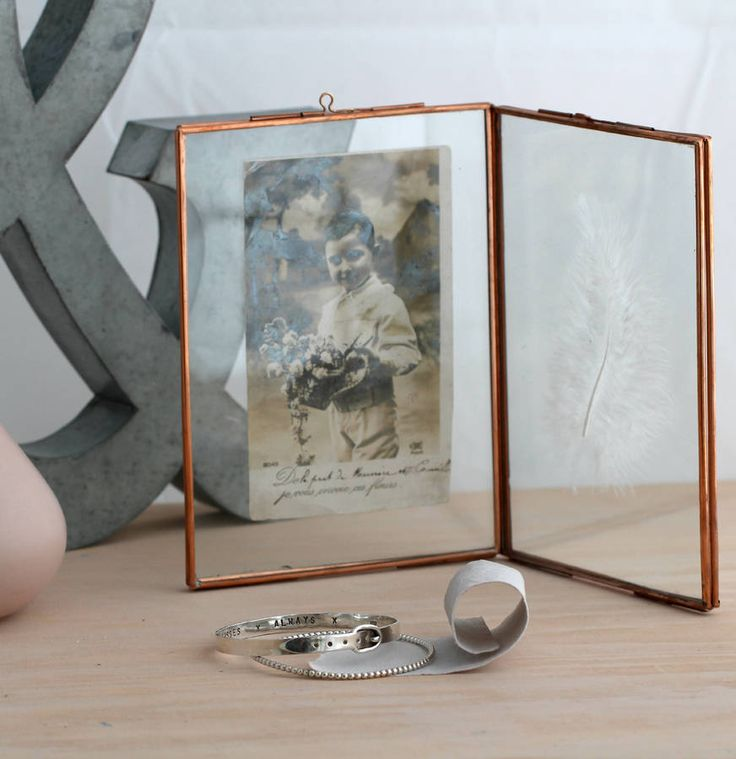 Small Vintage Style Copper Photo Frame