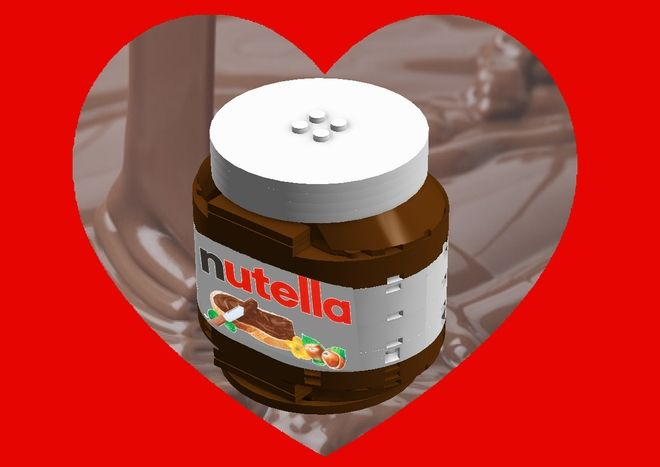 The set presents the reproduction of the famous Nutella jar! Nutella is the brand name of the famous Italian sweetened hazelnut chocolate spread. Manufactured by the Italian c...