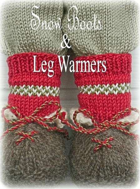 'BO's Snow Boots' from a Mary Jane's TEAROOM' PDF Knitting Pattern....