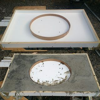 DIY: How to Create Poured Concrete Vanity Tops and Shower Curbs