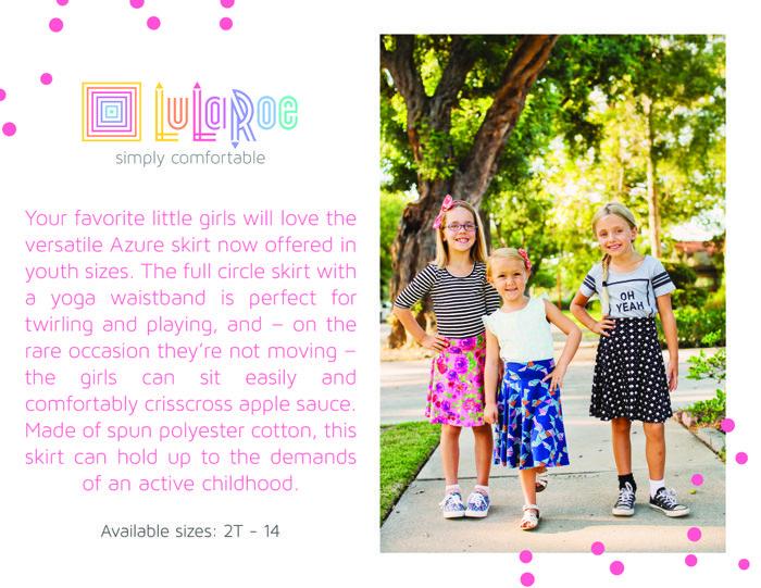 LuLaRoe Kids Azure Skirt