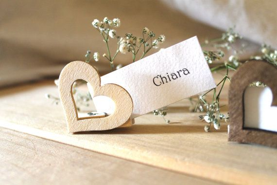 Segnaposto matrimonio Segnatavoli in Legno di CascinaSantAngela