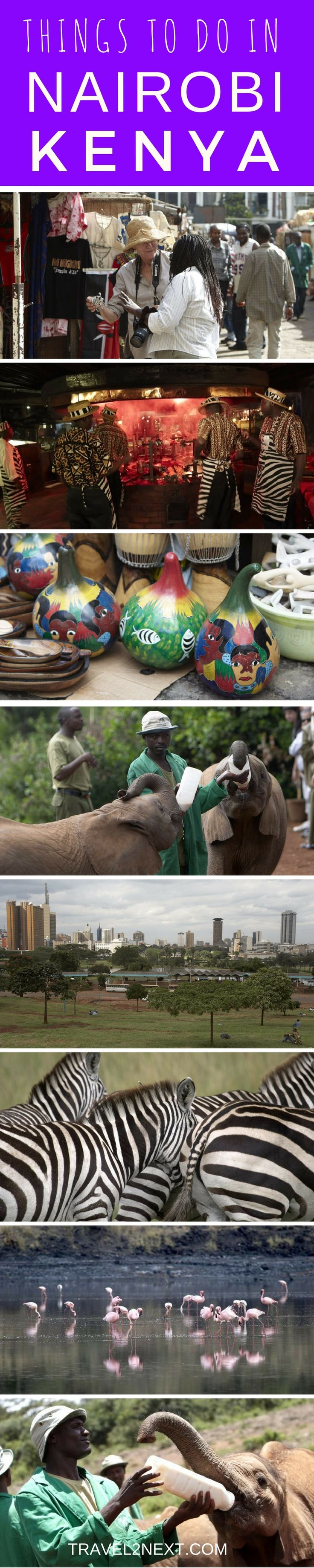 Things to do in Nairobi. Baby elephants, friendly giraffes and other wildlife are the focus of attention in Kenya's capital.