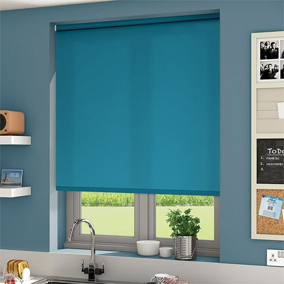 valencia blue sea roller blind
