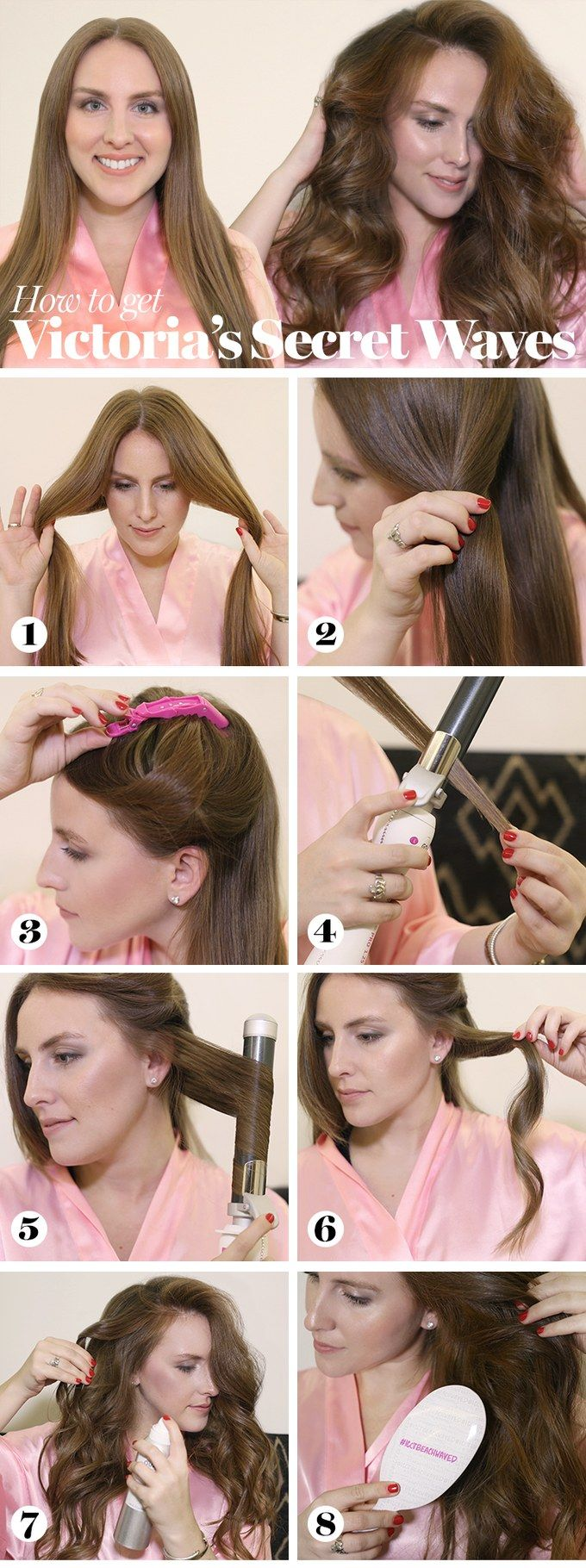 "Really good tutorial for beach waves--even if you don't have the ""Beachwaver"". You could do this with a regular curling iron."