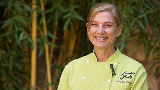 Chef Mary Sue Milliken on sustainable seafood.The Monterey Bay Aquarium's Seafood Watch program led this top chef to make other sustainable changes at her restaurant.