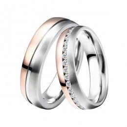 ST-88078 Ocelové snubní prsteny