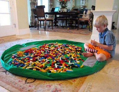 150cm Portable Kids Toy Storage Bag Play Mat Toys Bin Box XL Durable Portable Children doll Carpet Toy Tents