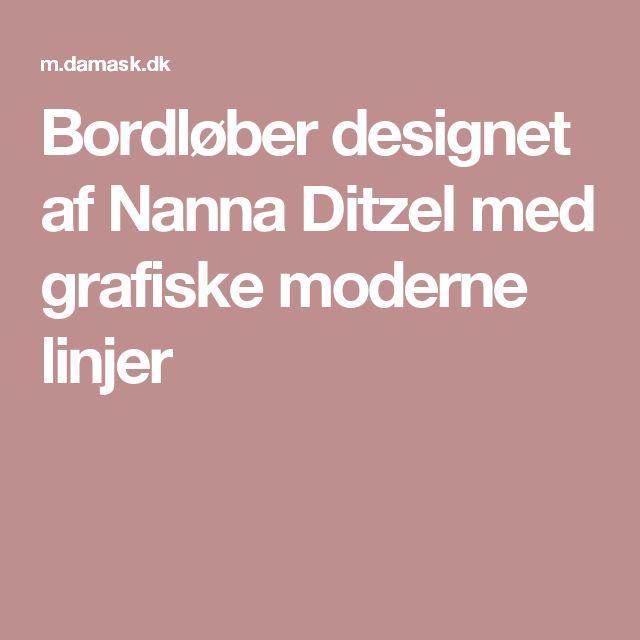 Bordløber designet af Nanna Ditzel med grafiske moderne linjer